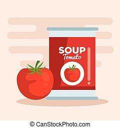 soupe tomate, légume
