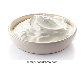 sour cream in a bowl