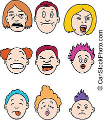 Sour People isolated on a white background.
