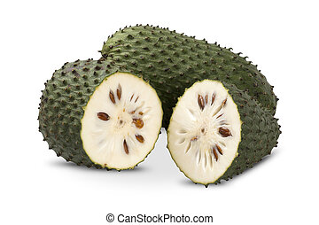 Sour sop, Prickly Custard Apple. (Annona muricata L.)...