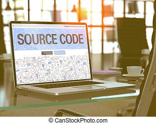 Source Code - Concept on Laptop Screen.