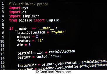 source, code, langage programmation