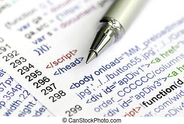 Source code of a website