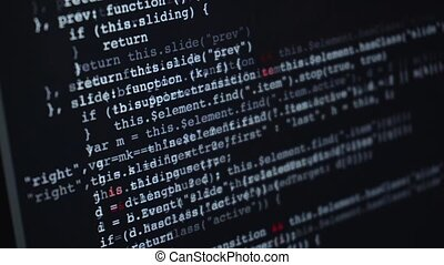 Source html or programming code running over screen of...