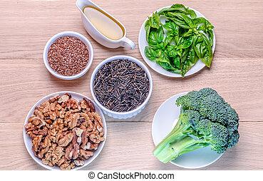sources, plant-based, acides, omega-3