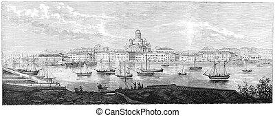Helsinki - Sourh Harbour, Helsinki, Finland ca. 1866....
