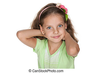souriant petite fille