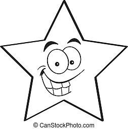 sourire, étoile, dessin animé