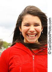 sourire, adolescent