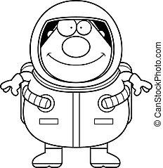 sourire, astronaute, dessin animé