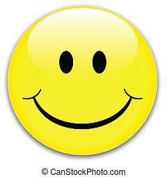 sourire, bouton