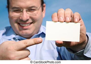 sourire, carte, homme