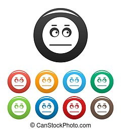 sourire, cercle, ensemble, collection, icônes