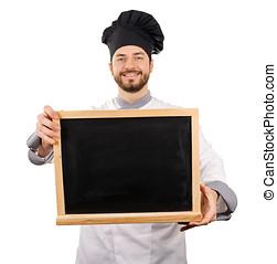 Rigolote menu chaton tenue vide cuisinier chapeau for Cuisinier chapeau noir