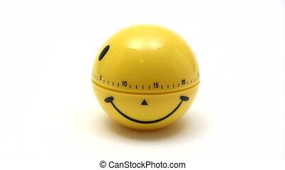 sourire, -, défaillance, minuteur, temps