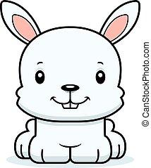 sourire, dessin animé, lapin
