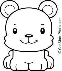 sourire, dessin animé, ours