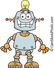 sourire, dessin animé, robot