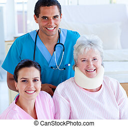 sourire, deux, médecins