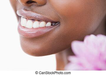 sourire, fleur