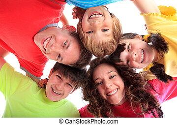 sourire heureux, enfants