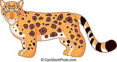 sourire, jaguar, dessin animé