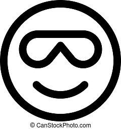 sourire, lunettes soleil, emoji