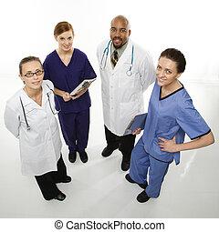 sourire., médecins