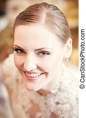 sourire, mariée