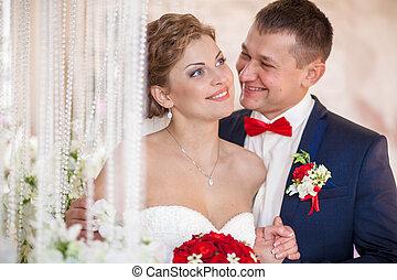 sourire, mariage, mariée, palefrenier