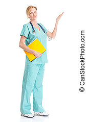 sourire, monde médical, infirmière