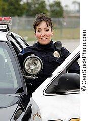 sourire, officier