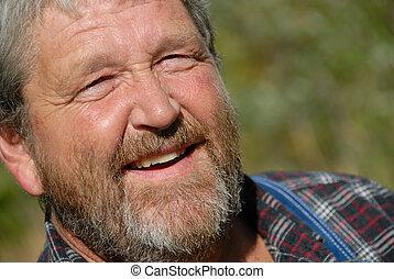 sourire, paysan