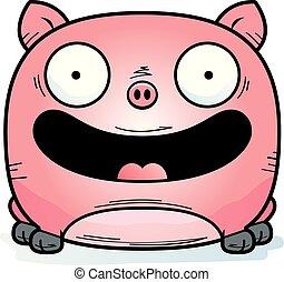 Sourire cochon debout sourire heureux dessin anim - Dessin cochon debout ...