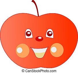 sourire, pomme
