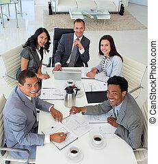 sourire, réunion, fonctionnement, professionnels