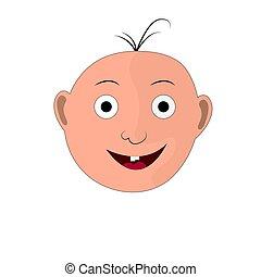 sourire, s, enfant, illustration, figure
