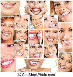 sourires, ans, dents