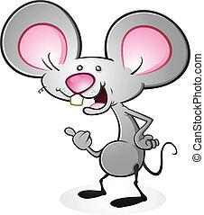 souris, caractère, dessin animé