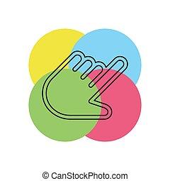 souris, -, illustration, main, curseur, vecteur, indicateur