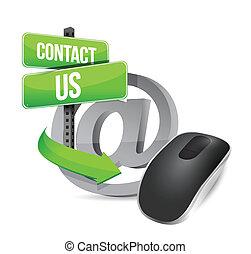 souris ordinateur sans fil, nous, contact
