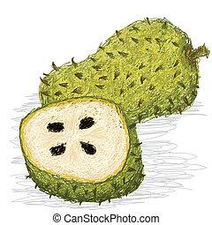 soursop, fruta