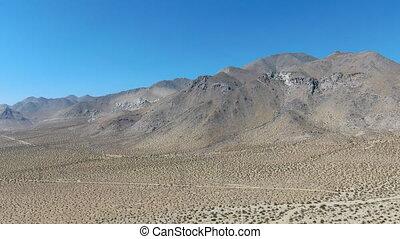 sous, aérien, bleu ciel, collines, californie, désert, vue