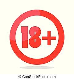 sous, dix-huit, signe, prohibition, années