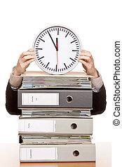 sous, femme, pressure., business, temps