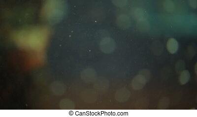sous-marin, bulles, fond