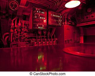 sous-marin, commande, centre