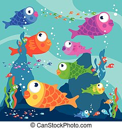 sous-marin, fish, natation
