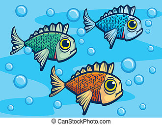 sous-marin, fish