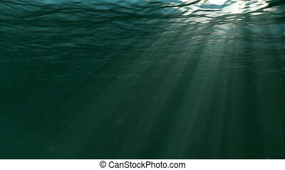 sous-marin, grand, fond, populaire, marin, scene.
